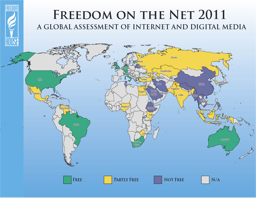 Freedom on the Net 2011 Map