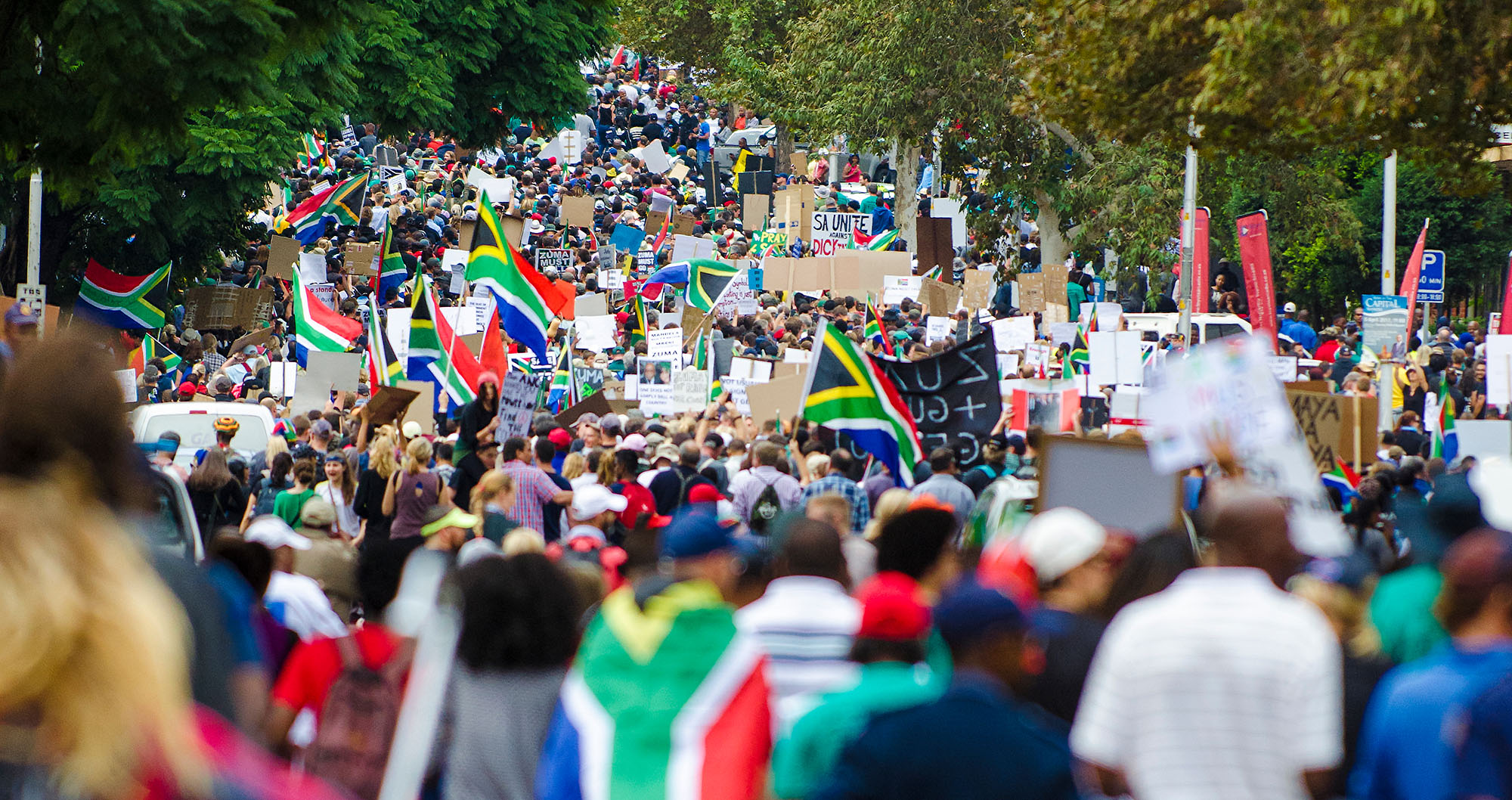 Getty image South Africa protest