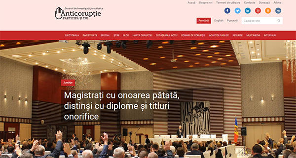 Magistrates with a Bad Reputation Awarded Diplomas and Honorary Titles, March 2018, published on Anticoruptie.md