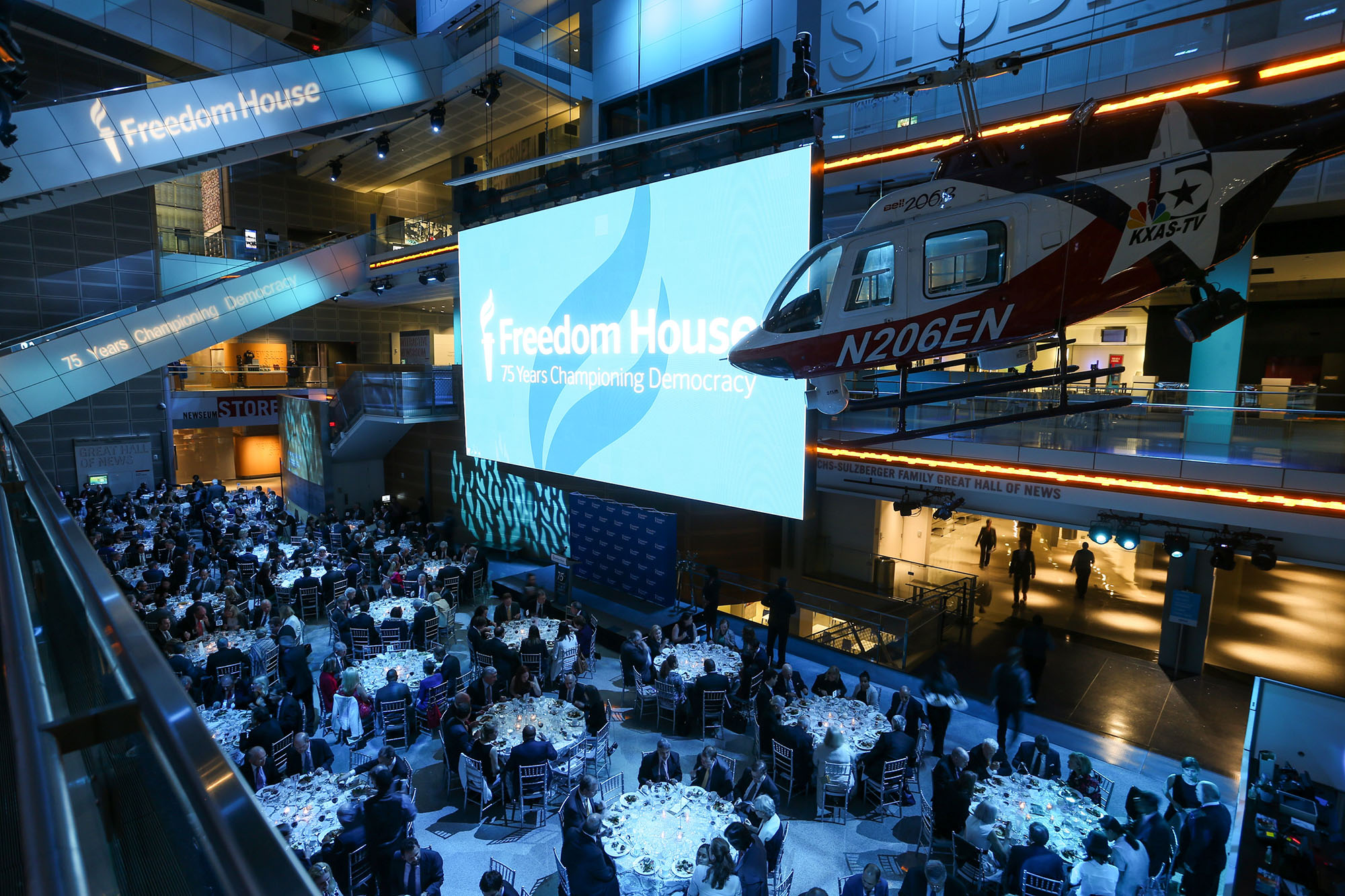 Freedom House 75th anniversary gala championing democracy