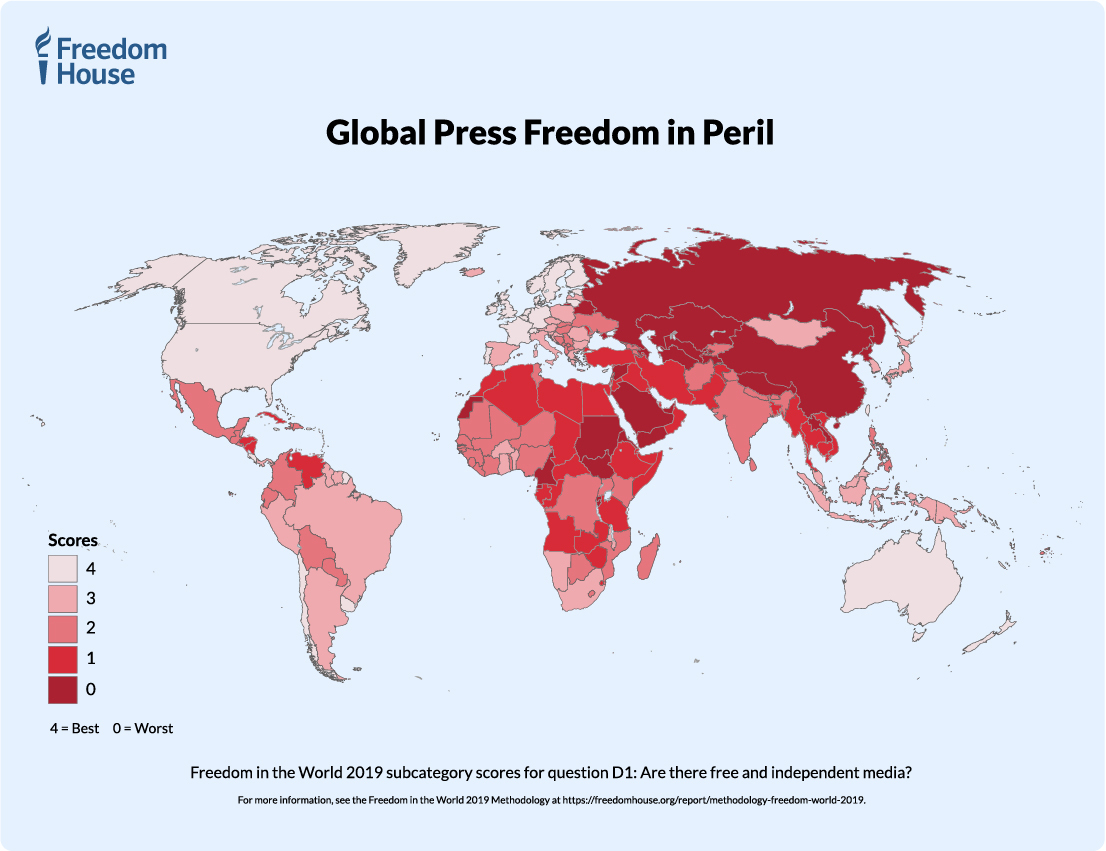 Freedom and the Media 2019: A Downward Spiral | Freedom House