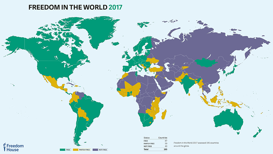 #FreedomReport records 11th consecutive year of decline in global freedom. Freedomintheworld.org