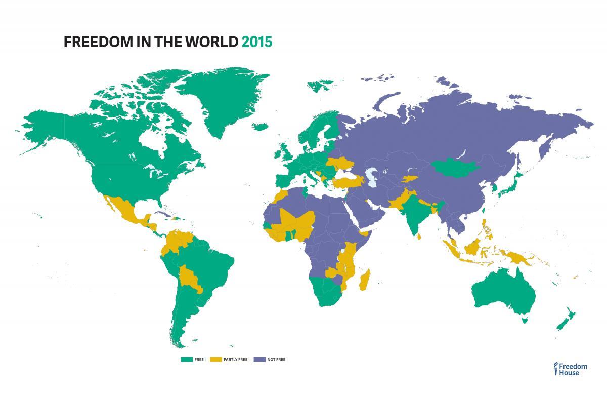 Maps 2015.2015 Freedom Maps Freedom House