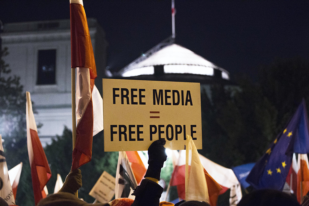 press freedom The freedom of the press, protected by the first amendment, is critical to a democracy in which the government is accountable to the people a free media functions as a watchdog that can investigate and report on government wrongdoing.