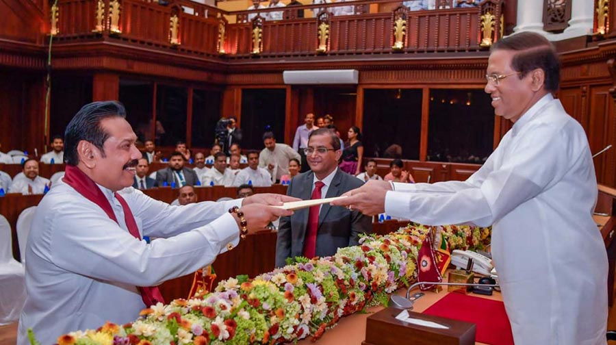 Sri Lankan President Maithripala Sirisena swears in new Cabinet of Ministers