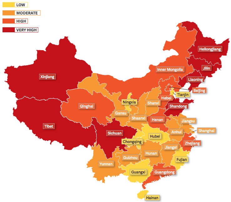 Religious persecution has been recorded in every single province. #ChinaReport