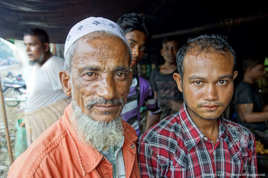 two rohingya men