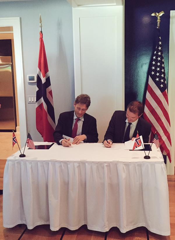 norway united states signing joint commitment