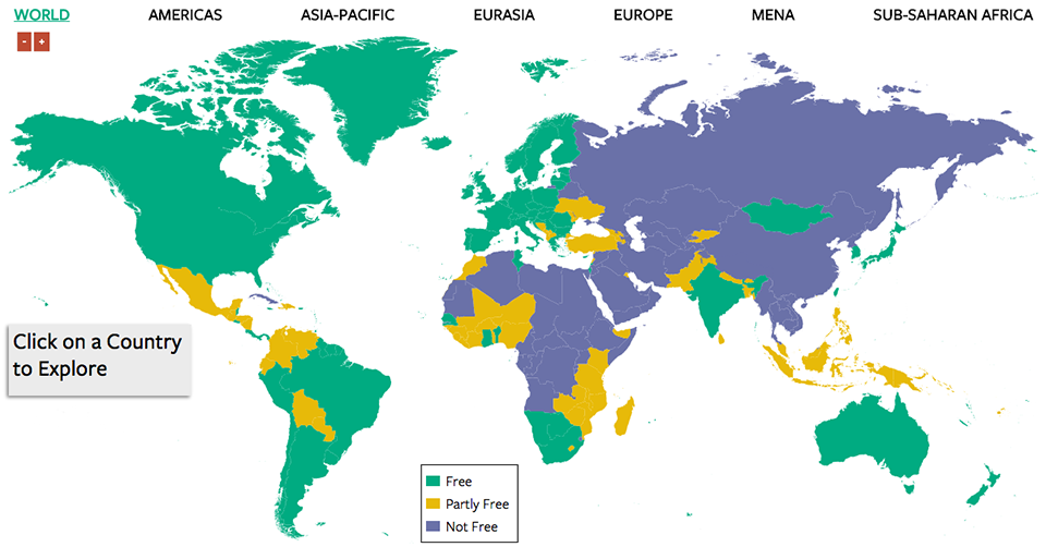 Dont Allow A Pullback On Freedom The US Presidential Election - Map of world opinion on us presidential election