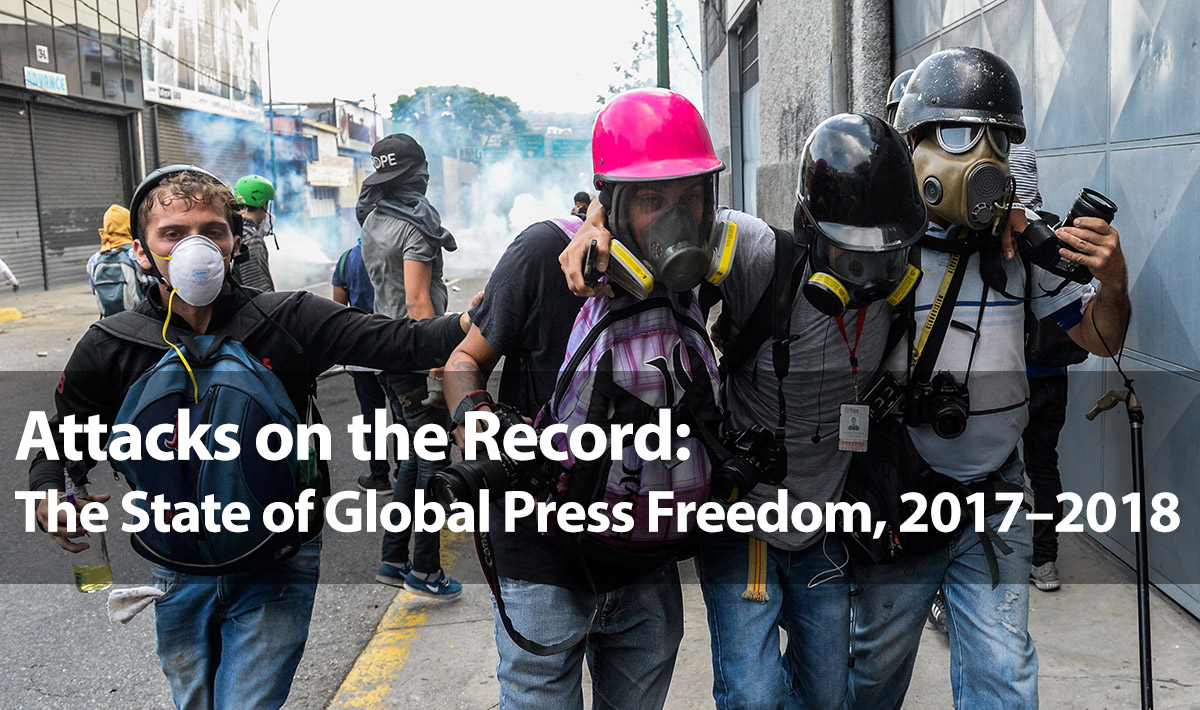 Press freedom is facing new threats in major democracies as well as in repressive states, where authorities are censoring social media after reducing the independence of traditional outlets.