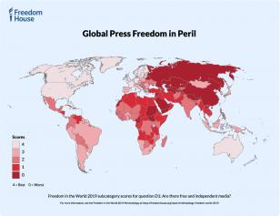 Freedom and the Media 2019 Map