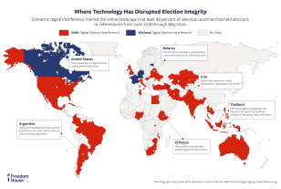 Key Tactics of Digital Election Interference map
