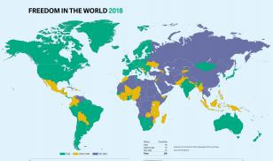 Freedom in the World 2018 Map