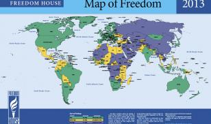 Freedom in the World 2013 Map