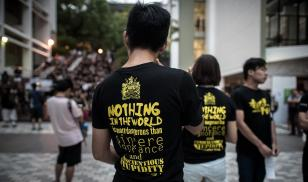 Hong Kong Academic Freedom protest tshirt