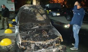 Ukraine arson of journalist car