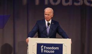 Joe Biden accepts Freedom House award