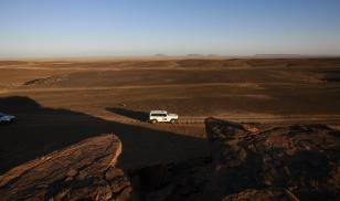 UN team navigates through Western Sahara.