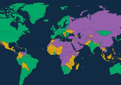 Freedom in the World 2020 Map of Freedom