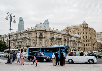 People in Baku, Azerbaijan.  Editorial credit:  Denis Kabelev / Shutterstock.com