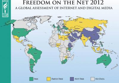 Freedom on the Net 2012 Map