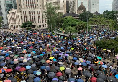Hundreds of thousands of Hong Kongers took the the streets to protest against a controversial extradition bill. Hong Kong. 31 August 2019. Editorial credit: Lewis Tse Pui Lung / Shutterstock.com