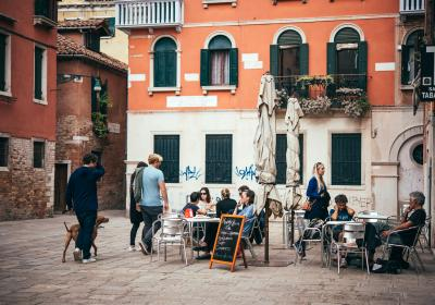 People in Venice, Italy. Editorial credit: Yulia Grigoryeva / Shutterstock.com