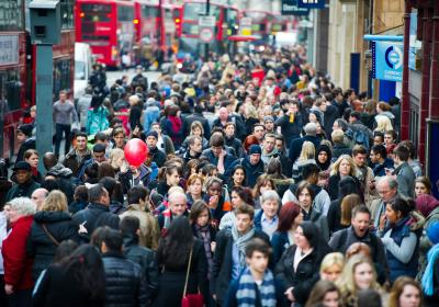 People in London, England. Editorial credit: JuliusKielaitis / Shutterstock.com