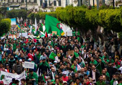 Thousands of Algerians protested against the current government. Algiers, Algeria. 19 April 2019. Editorial credit: BkhStudio / Shutterstock.com.