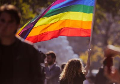 Dignity for all rainbow flag lgbti pride