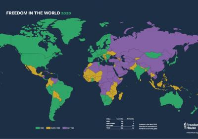 Freedom in the World 2020 Map