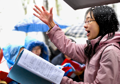 china religious freedom Christianity singing in snow