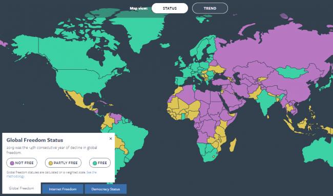 https://freedomhouse.org/sites/default/files/styles/650x382_fp_scale_crop_/public/2020-10/global-freedom-map-screenshot-explore-fiw2020.png?h=d47c273d&itok=Bp76QdZp
