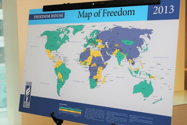 Freedom in the World 2013 Map of Freedom