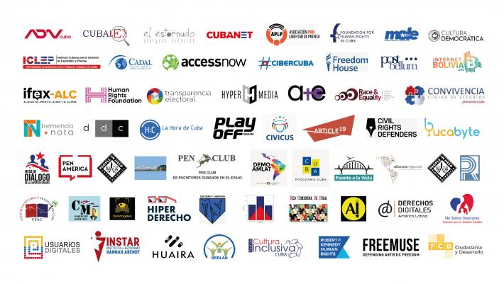 Logos for Joint Statement on Decree-Law 370 in Cuba