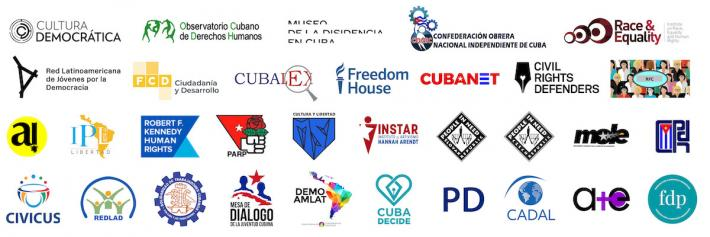 Joint Statement Cuba Human Rights Orgs logos